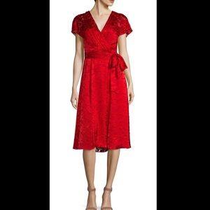 Alice + Olivia Aria Faux-Wrap Dress